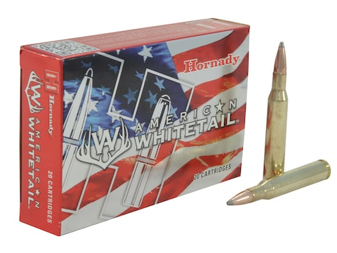 Hornady American Whitetail Ammunition 270 Winchester 140 Grain Interlock Spire Point Bo...