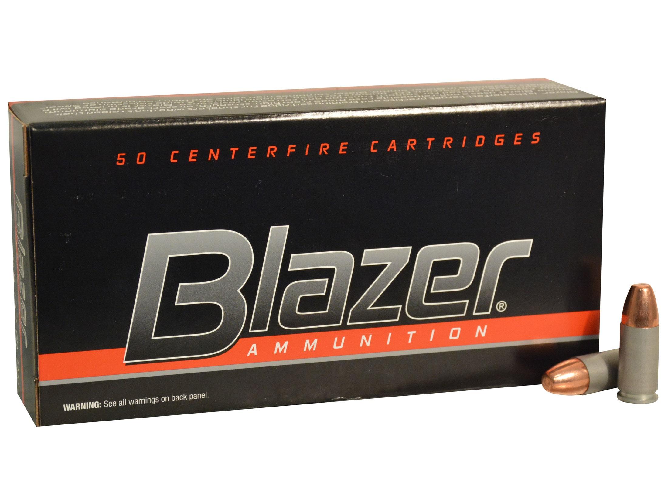 Blazer Ammo 9mm Luger 147 Grain Full Metal Jacket Box of 50