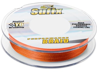 Sufix Performance Braided Fishing Line 50lb 150yd Fluorescent Neon Fire