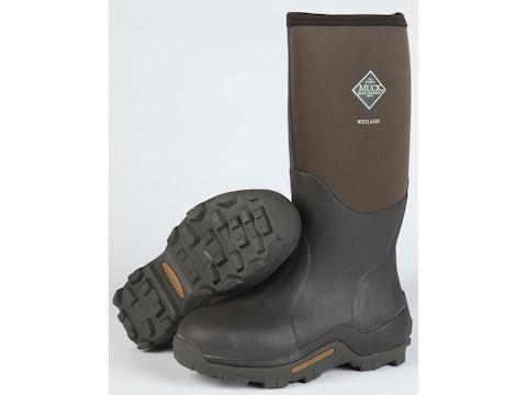 "Muck Wetland 16.5"" Hunting Boots Rubber/Nylon Bark Men's"