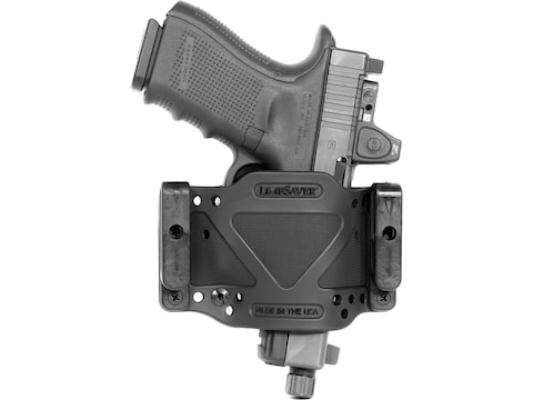 Limbsaver Cross-Tech Holster Clip On Ambidextrous Compact Universal Fit Polymer Black