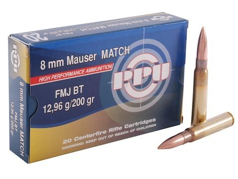 Prvi Partizan Match Ammunition 8x57mm JS Mauser (8mm Mauser) 200 Grain Full Metal Jacke...