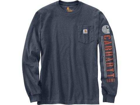 Carhartt Men's Original Fit Heavyweight Pocket Logo Long Sleeve T-Shirt