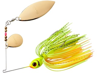 BOOYAH Blade Tandem Spinnerbait 3/8oz Chartreuse Perch Gold