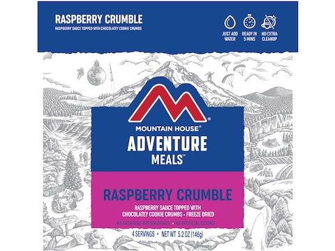 Mountain House Raspberry Crumble Freeze Dried Food 4 Serving