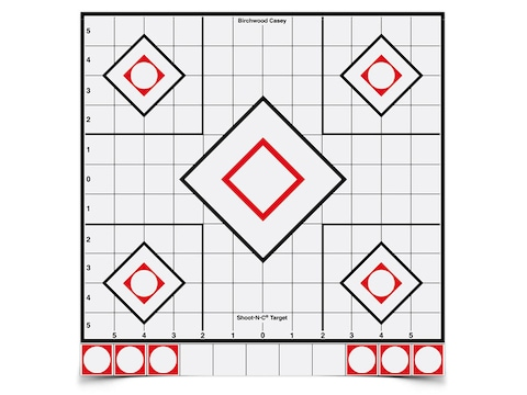 "Birchwood Casey Shoot-N-C White/Black Targets 12"" Sight-In Pack of 5"
