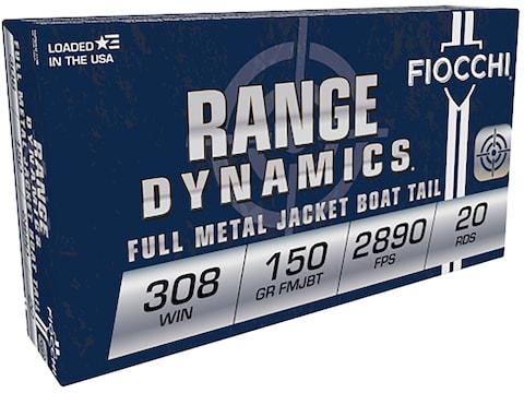 Fiocchi Shooting Dynamics Ammunition 308 Winchester 150 Grain Full Metal Jacket