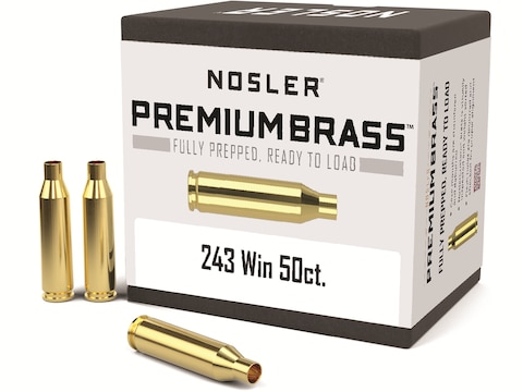 Nosler Custom Brass 243 Winchester Box of 50