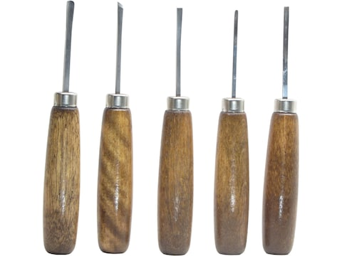 Ramelson 106M Sub Miniature 5-Piece Woodcarving Tool Set with Straight-Style Handles