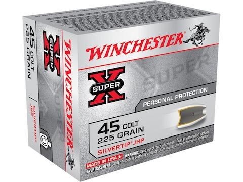 Winchester Super-X Ammunition 45 Colt (Long Colt) 225 Grain Silvertip Hollow Point