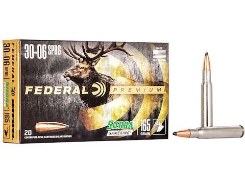 Federal Premium Ammunition 30-06 Springfield 165 Grain Sierra GameKing Soft Point Boat ...