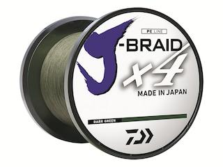 Daiwa J-Braid X4 Braided Fishing Line 6lb 300yd Dark Green