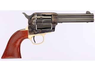 "Taylor's & Co The Ranch Hand Single Action Revolver 357 Magnum 4.75"" Blued Barrel Case Hardened Steel Frame Walnut Grips 6 Round"