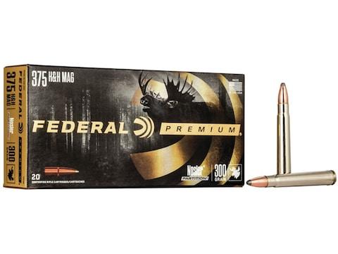 Federal Factory Second Cape-Shok Ammunition 375 H&H Magnum 300 Grain Nosler Partition B...