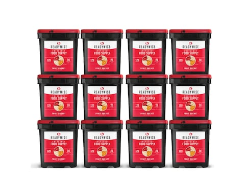 ReadyWise 1440 Serving Freeze Dried Fruit and Gourmet Snack Freeze Dried Food Kit