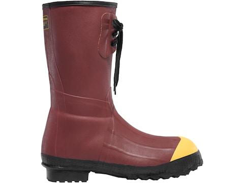 "LaCrosse Pac 12"" Rust Steel Toe Work Boots Rubber Rust Red Men's"