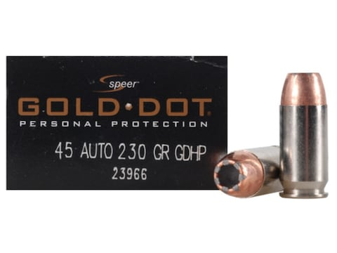 Speer Gold Dot Ammunition 45 ACP 230 Grain Jacketed Hollow Point