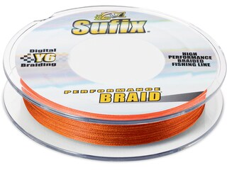 Sufix Performance Braided Fishing Line 10lb 150yd Fluorescent Neon Fire