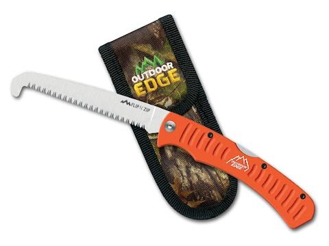 "Outdoor Edge Flip N' Saw 7"" 65Mn Steel Blade Aluminum Handle Black"
