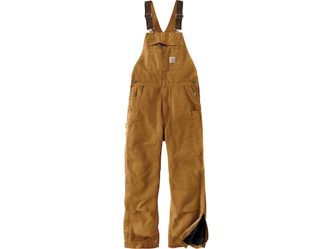 Carhartt Men's Quilt-Lined Washed Duck Bib Overalls Cotton
