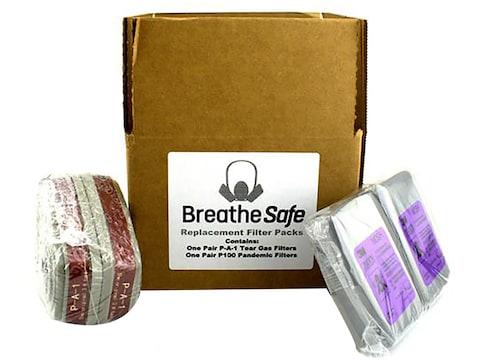 BulletSafe BreatheSafe Respirator Gas Mask Kit Replacement Filter Set