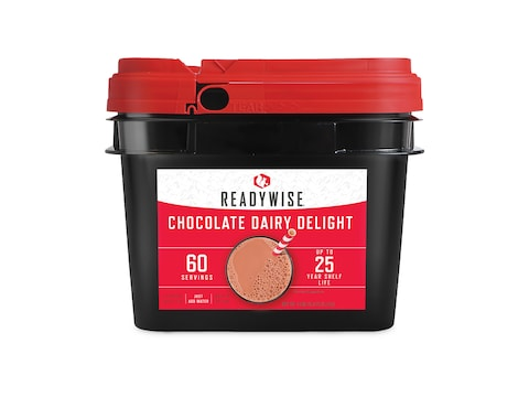 ReadyWise Whey Chocolate Milk Bucket Freeze Dried Food 60 Serving