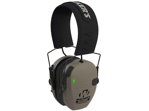 Walker's Razor Slim Low Profile Electronic Earmuffs with Rechargeable Battery (NRR 23dB)