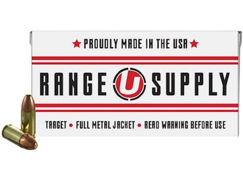 Underwood Range Supply Ammunition 9mm Luger 124 Grain Full Metal Jacket Box of 50