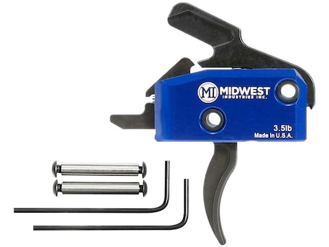 Midwest Industries Enhanced Drop-In Trigger Group Curved with Anti Walk Pins AR-15 3.5 ...