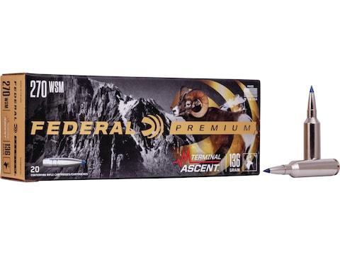 Federal Premium Terminal Ascent Ammunition 270 Winchester Short Magnum (WSM) 136 Grain ...