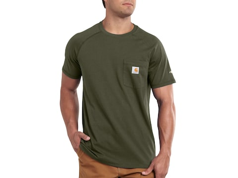 Carhartt Men's Force Delmont Short Sleeve T-Shirt Cotton/Polyester