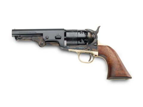 "Pietta 1851 Navy Black Powder Revolver 44 Caliber 4.875"" Barrel Steel Frame Blue"