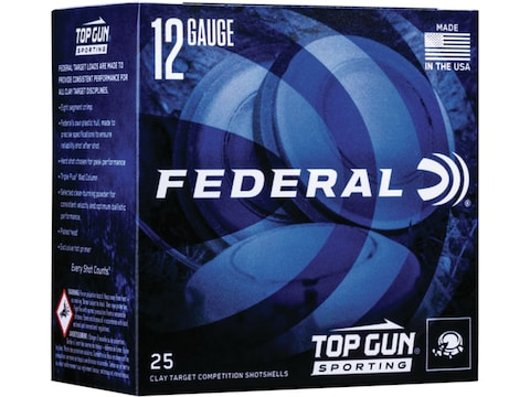 "Federal Top Gun Sporting 1300 Ammunition 12 Gauge 2-3/4"" 1 oz"