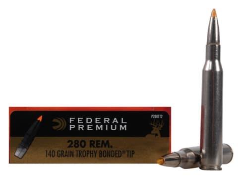 Federal Premium Ammunition 280 Remington 140 Grain Trophy Bonded Tip