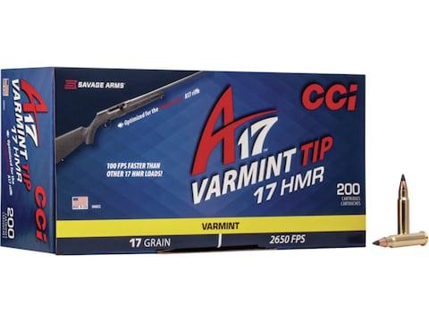 CCI A17 Ammunition 17 Hornady Magnum Rimfire (HMR) 17 Grain Tipped Varmint Box of 200 -...