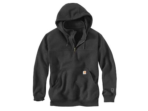 Carhartt Men's Paxton Rain Defender Heavyweight 1/4 Zip Mock Neck Hooded Sweatshirt Cot...