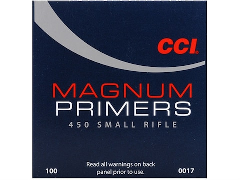 CCI Small Rifle Magnum Primers #450 Box of 1000 (10 Trays of 100)