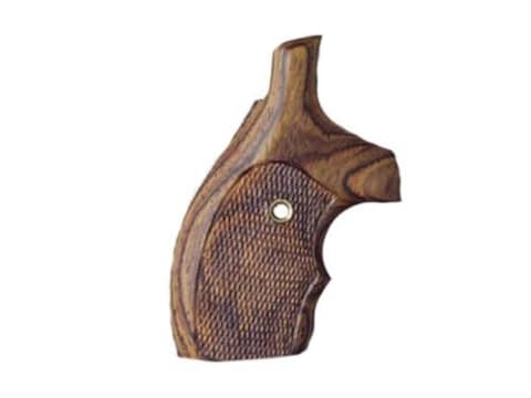 Hogue Bantam Grips with Top Finger Groove S&W J-Frame Round Butt Checkered