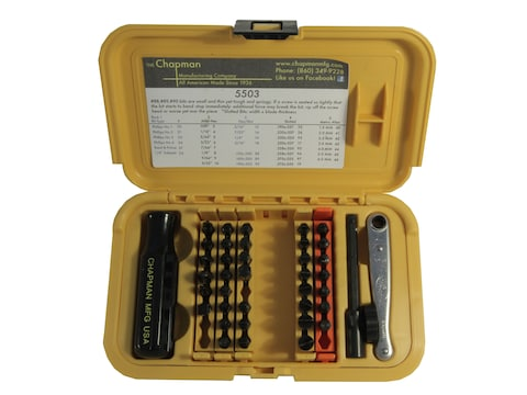Chapman Model 5503 44 Piece Screwdriver Set with Slotted, Phillips, and Metric and SAE ...