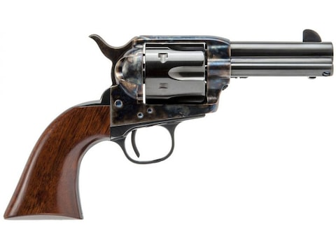 "Cimarron New Sheriff Revolver 3.5"" Barrel 6-Round Color Case Hardened, Blue, Walnut"