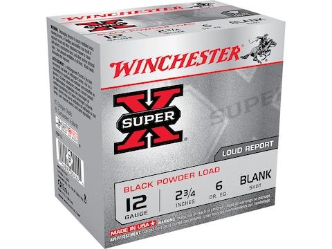 "Winchester Super-X Black Powder Blank Ammunition 12 Gauge 2-3/4"" Box of 25"