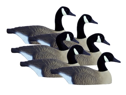 Higdon Full Size Half Shell Canada Goose Decoy Polymer Pack of 6