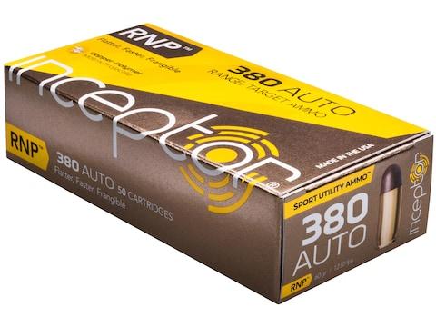 Inceptor Sport Utility Ammunition 380 ACP 60 Grain RNP Frangible Lead-Free Box of 50