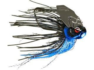 BOOYAH Melee Bladed Jig Black Blue Black Blade 3/8 oz