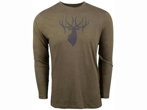 King's Camo Men's Logo Long Sleeve Crew T-Shirt Poly/Cotton/Rayon