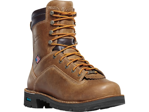 """Danner Quarry USA 8"""" GORE-TEX Insulated Non-Metallic Safety Toe Work Boots Leather Men's"""