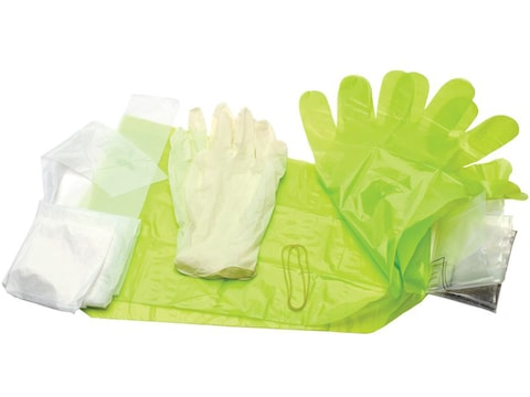 HME Field Dressing Kit with Wrist and Shoulder Length Gloves and Apron