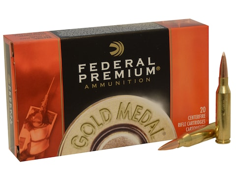 Federal Premium Gold Medal Ammunition 260 Remington 142 Grain Sierra MatchKing Hollow P...