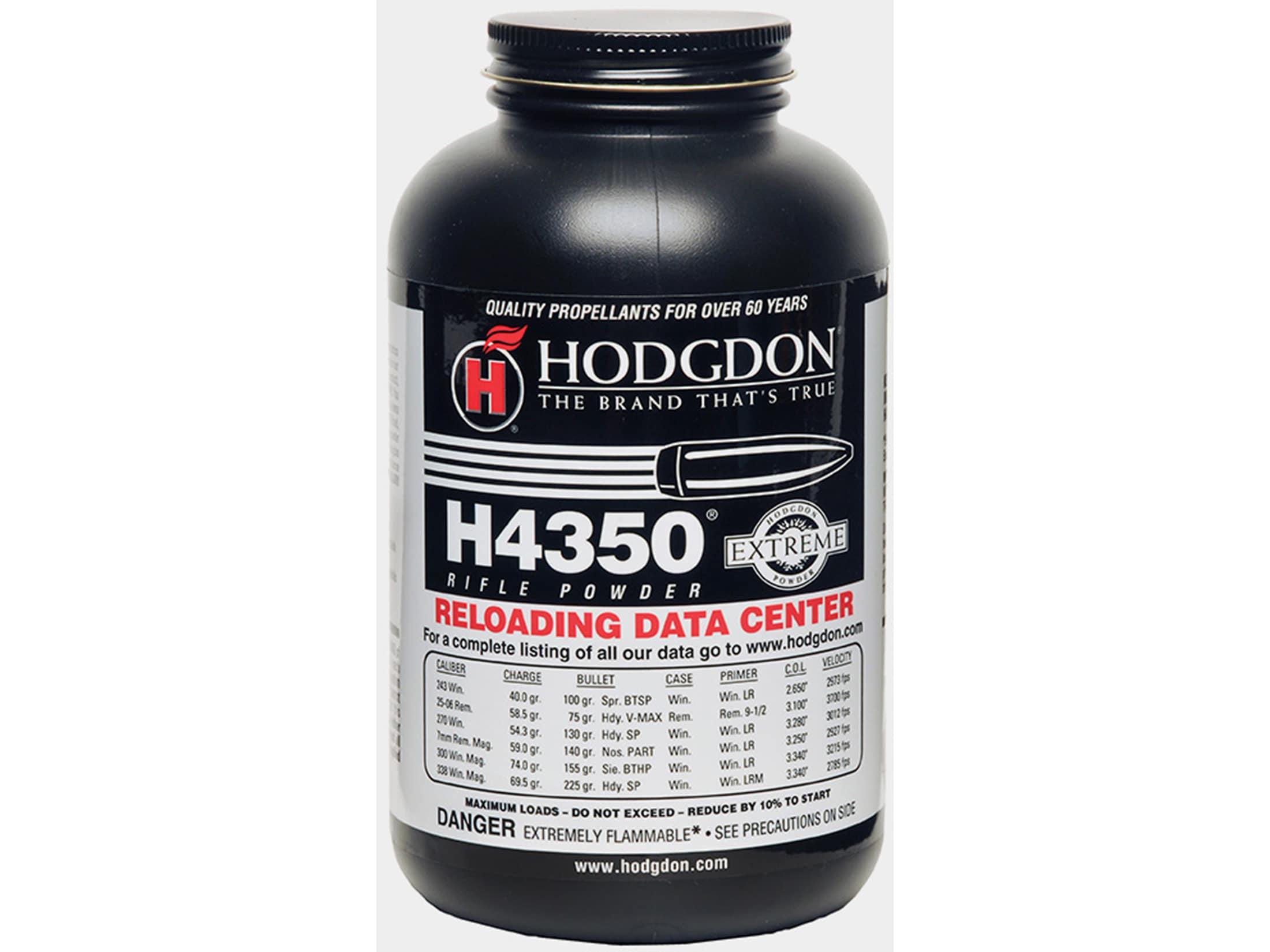 Hodgdon H4350 Smokeless Gun Powder 8 lb