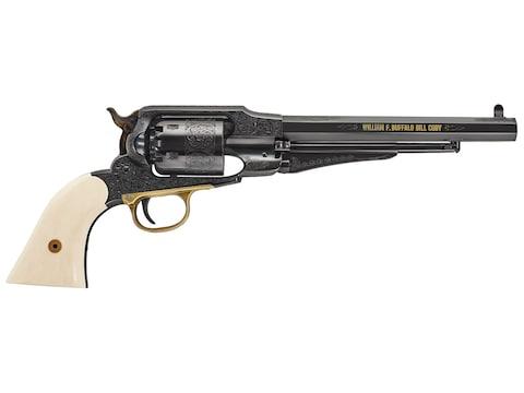 """Uberti 1858 Buffalo Bill Centennial Black Powder Revolver 44 Caliber 8"""" Barrel Steel Fr..."""